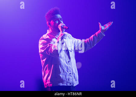 London, UK. 08th March, 2017. London, England, Abel Makkonen Tesfaye of The Weeknd, performs his second night at - Stock Photo
