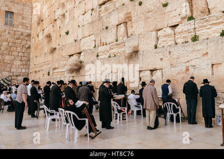 Wailing Wall, Jerusalem, Israel - Stock Photo