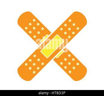 Colorful medical bandages icon vector isolated white background. Medical icons. - Stock Photo
