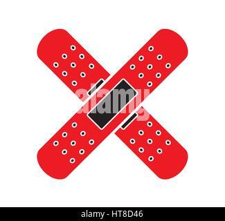 Medical bandages icon vector isolated white background. Medical icons. - Stock Photo