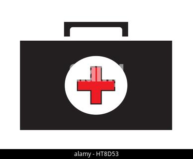 First aid kit icon vector isolated white background. Medical icons. - Stock Photo