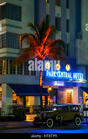 Park Central Hotel, South Beach, Miami Beach, Florida - Stock Photo