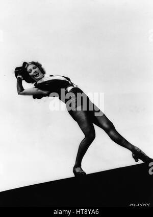 'A backward bend finds Eleanor Powell combining her acrobatic and tap training to make a breath-making step. New - Stock Photo