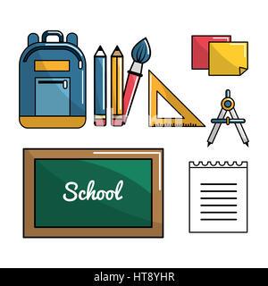 color school tools icon, vector illustraction design image - Stock Photo