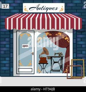 Curiosiry shop . Antiques shop. - Stock Photo