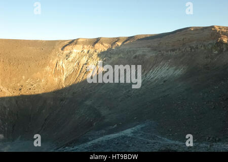 View of the large crater of Volcano - Stock Photo
