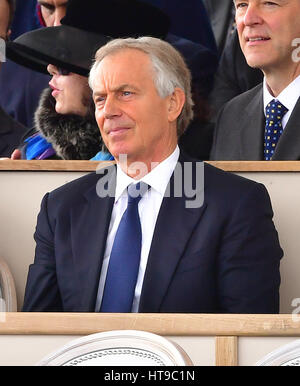 Former prime minister Tony Blair attending a Military Drumhead Service on Horse Guards Parade in London, ahead of - Stock Photo