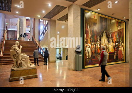 In the Hungarian National Gallery, located in the Royal Palace, Buda castle, Budapest, Hungary - Stock Photo