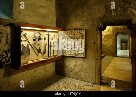Inside the Budapest History Museum located in the Royal Palace, Buda castle, Budapest, Hungary - Stock Photo