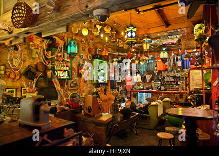 The 'Szimpla Kert' one of the oldest and most famous 'Ruin-pubs' in Budapest, Hungary - Stock Photo