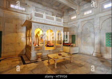The Jaswant Thada cenotaph in Jodhpur, India - Stock Photo