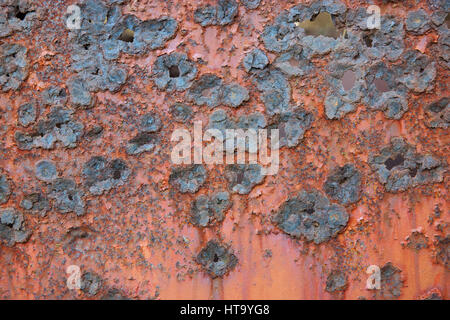 Rough pattern of a rusted metal plate - Stock Photo