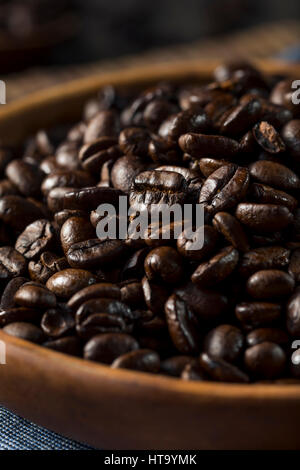 Organic Roasted Brown Coffee Beans in a Bowl - Stock Photo