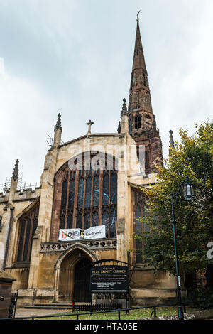 Coventry, England - October 23, 2016:  Holy Trinity Church in Coventry, West Midlands, England, UK, Western Europe. - Stock Photo