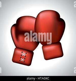 color boxing gloves icon - Stock Photo