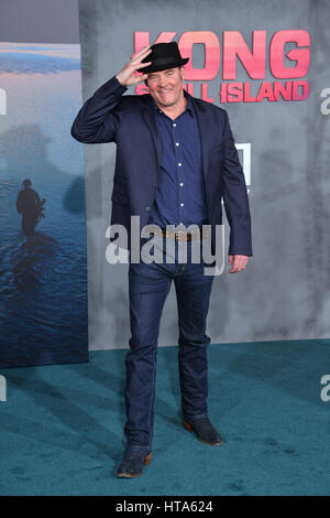 Los Angeles, USA. 08th Mar, 2017. LOS ANGELES, CA. March 8, 2017: Actor David Koechner at the premiere for 'Kong: - Stock Photo