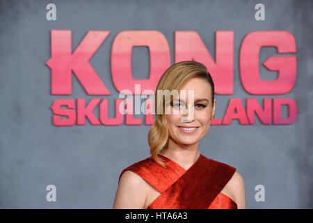 Los Angeles, USA. 08th Mar, 2017. LOS ANGELES, CA. March 8, 2017: Actress Brie Larson at the premiere for 'Kong: - Stock Photo