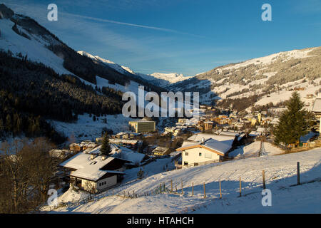 Saalbach - Austrian Ski Resort - Stock Photo