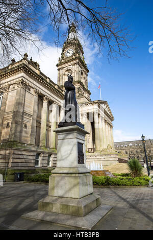 Bolton Town Hall . Bolton Town Centre, Bolton , England , UK - Stock Photo
