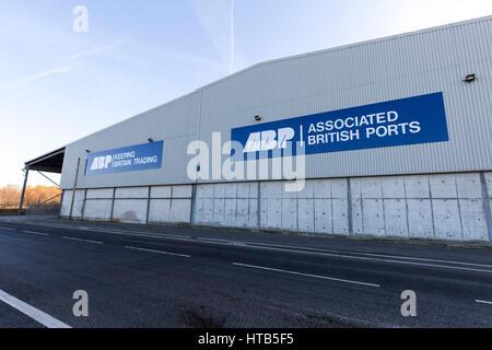Associated British Ports signage at The Port of Garston. - Stock Photo