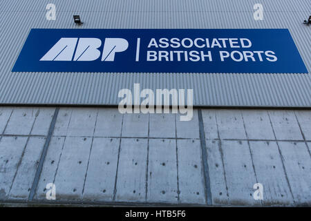 Associated British Ports signage at The Port of Garston. - Stock Photo