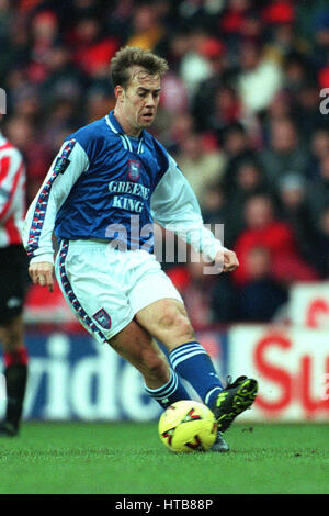 JAMIE CLAPHAM IPSWICH TOWN FC 18 January 1999 - Stock Photo