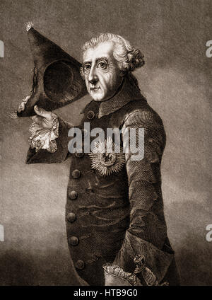 Frederick II, Friedrich II, Frederick the Great, 1712-1786, King of Prussia - Stock Photo