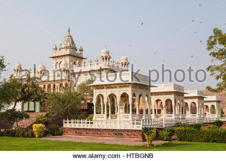 Jaswant Thada a monument and memorial s in Jodhpur, Rajasthan, India. - Stock Photo