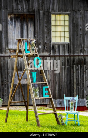 wood barn letters the letter b painted on a building in london stock photo royalty