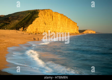 the beach below East Cliff, West Bay, Jurassic Coast, Dorset, England, UK - Stock Photo