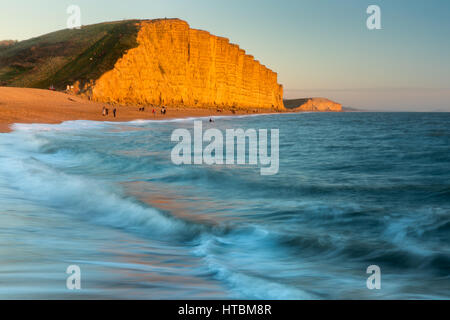 The beach below East Cliff, West Bay, Jurassic Coast, Dorset, England, UK - Stock Photo