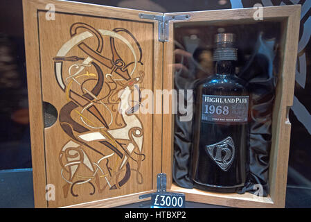 Sought after by collectors a much prized 1968 Highland Park Single Malt Whiskey from the heart of the Orkney Isles. - Stock Photo