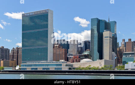 The United Nations building in Manhattan, New York City, New York. - Stock Photo