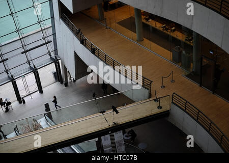 Royal Danish Library, 'The Black Diamond', a good example of modern danish architecture at it's best. - Stock Photo