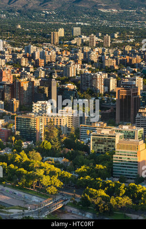 Santiago, Region Metropolitana, Chile - View of buildings at Providencia district, the most dense part of the city - Stock Photo