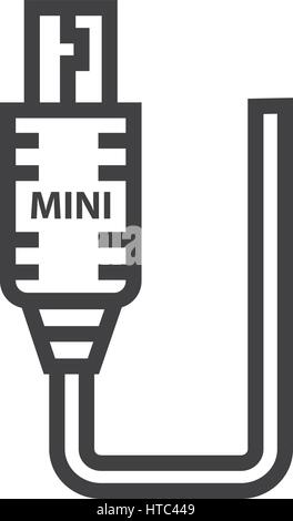 Mini HDMI Adapter icon - Stock Photo