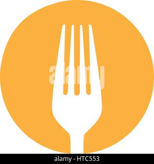 symbol fork tool icon - Stock Photo