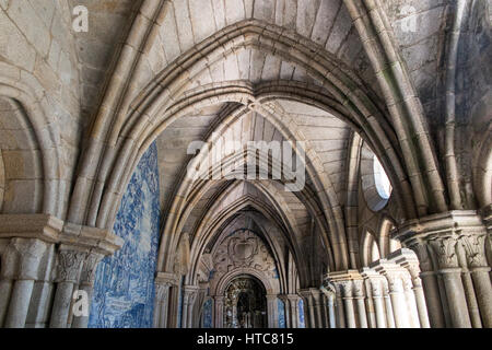 Cloister of Cathedral Se, Porto Portugal - Stock Photo