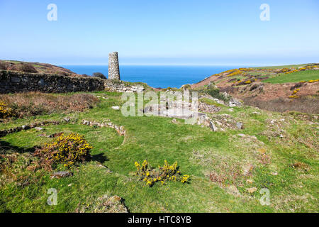 Porthmeor Tin stamps with its well-preserved buddle system - Stock Photo