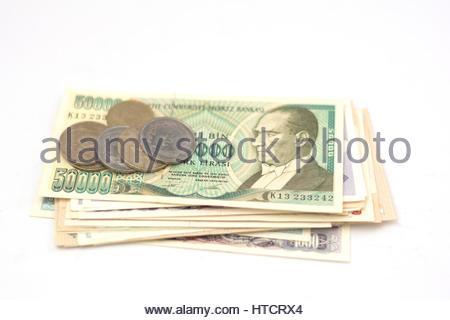 old turkish money - Stock Photo
