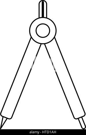 compass geometry school image line - Stock Photo