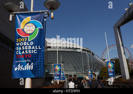 Tokyo, Japan. 10th Mar, 2017. General view WBC : 2017 World Baseball Classic First Round Pool B Game at Tokyo Dome - Stock Photo