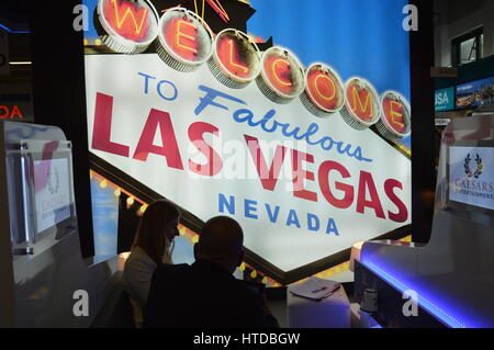 Berlin, Germany. 9th March 2017. ITB 2017 international travel trade show underway in Berlin, Germany. Las Vegas - Stock Photo