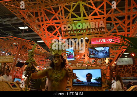 Berlin, Germany. 9th March 2017. ITB 2017 international travel trade show underway in Berlin, Germany. At Colombia - Stock Photo