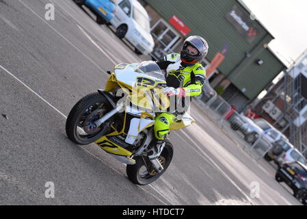MSV motorbike track day Snetterton - Stock Photo