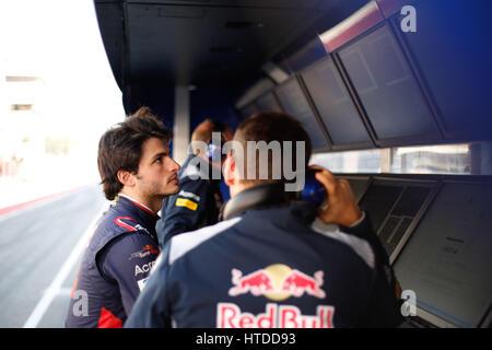 Formel 1 Testfahrten 2017 in Barcelona Carlos Sainz Jr. (SPA#55), Scuderia Toro Rosso   Photo: Cronos/Hasan Bratic - Stock Photo