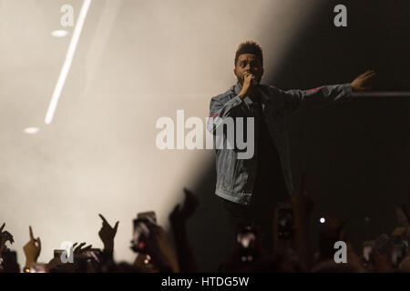 Glasgow, UK. 10th March, 2017. Canadian singer and songwriter Abel Makkonen Tesfaye, known professionally as The - Stock Photo