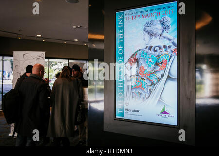 Rome, Italy. 11th Mar, 2017. A general view of the International Tatoo Expo Rome on March 11, 2017 in Rome, Italy. - Stock Photo