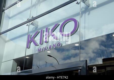 Kiko Milano cosmetics store in Hammersmith, London, UK. - Stock Photo