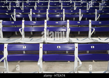 Empty spectator seats - Stock Photo